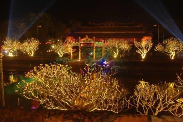 Hình ảnh tuyệt đẹp Đại Nội về đêm
