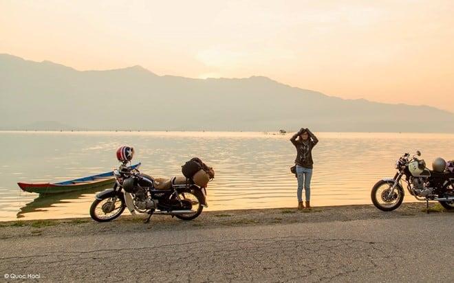Vượt đèo Hải Vân, ngắm mặt trời lặn bên đầm Lập An 178