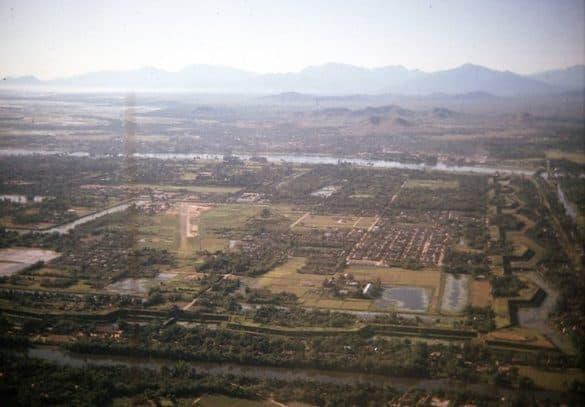Toàn cảnh Hoàng thành Huế nhìn từ góc Tây Bắc.