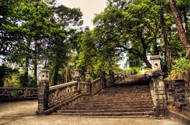 Lối lên Đan viện Thiên An (Ảnh ST)