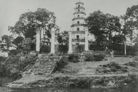 Bến thuyền của chùa Thiên Mụ năm 1935. Ảnh tư liệu.