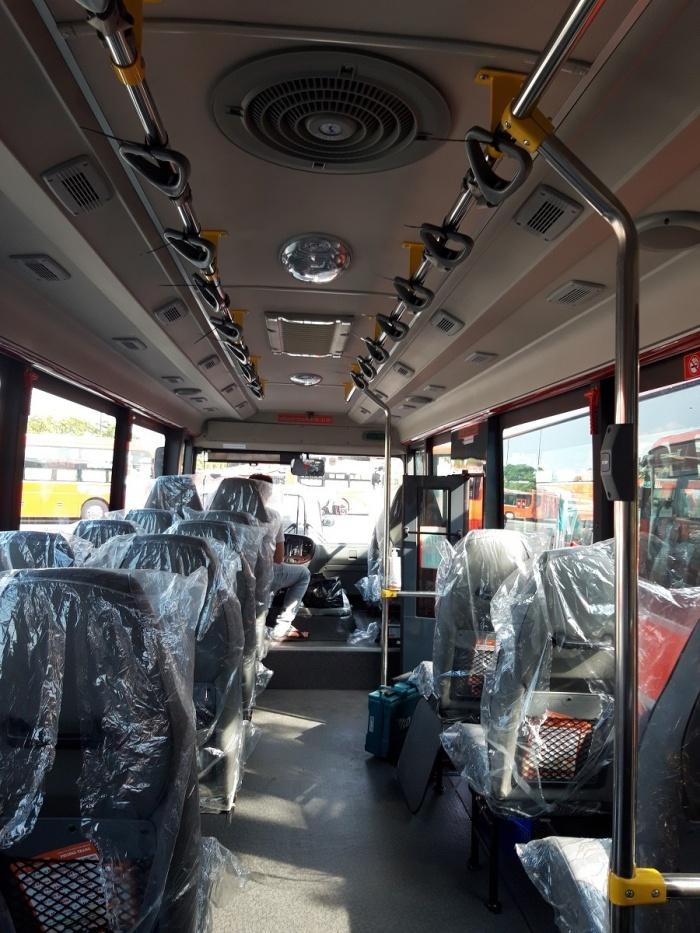 Cận cảnh buýt chất lượng cao trước