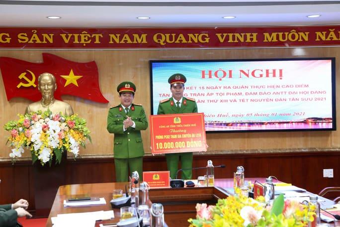 Nửa tháng ra quân, Công an Thừa Thiên – Huế phá nhiều chuyên án lớn